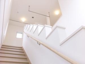 階段上にドライエリア