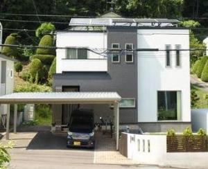 外観  太陽光発電設置のエコ住宅
