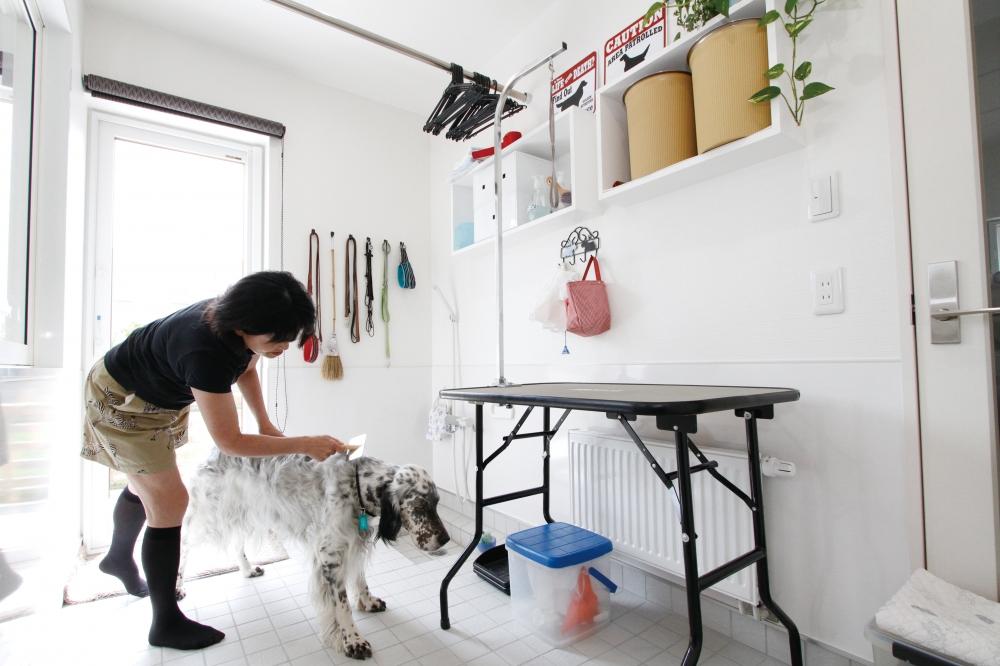家づくりのきっかけを教えてください - 子供達が自立したのをきっかけに、4年前に夫婦で2回目の家づくりをしました。イングリッシュセッターという大きな犬と暮らしていたので、ドッグランが叶う土地の広さと、犬のカットやシャンプーができるインナーテラスを設けた上で、ダブル断熱や床暖房も、予算内に収めていただけるようにお願いしたんです。 -  -