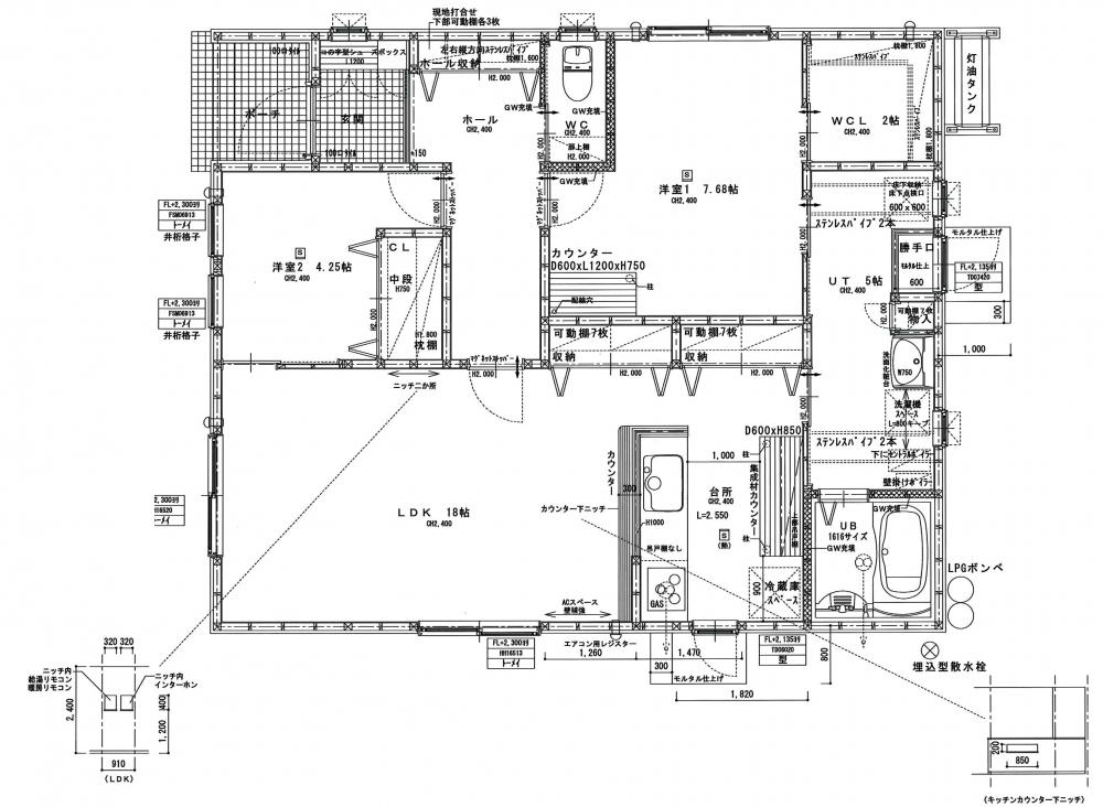 - 敷地面積:842.11㎡(254.73坪)延床面積:79.50㎡(24.0坪) -  -