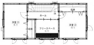3階建てプラン 3F間取