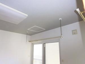 洋室  壁・天井・クロス張替 物干し取付