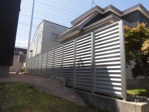 フェンス取付工事 完成